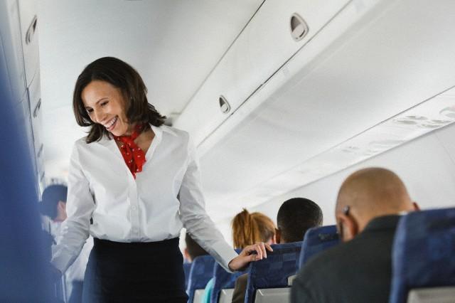 flight attendant on board