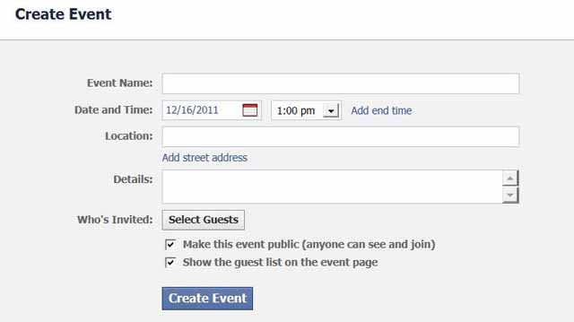 host facebook event