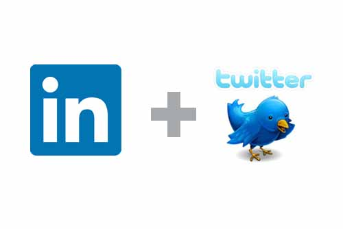 link twitter and linkedin accounts