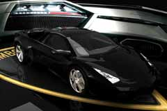 black luxury lamborghini car
