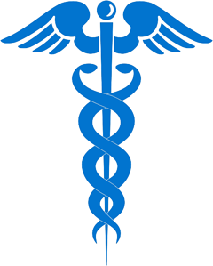 blue logo in medical field