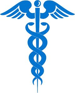 blue logo in medical field