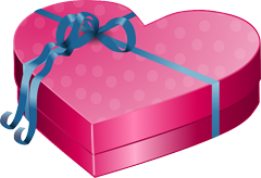 pink color gift box