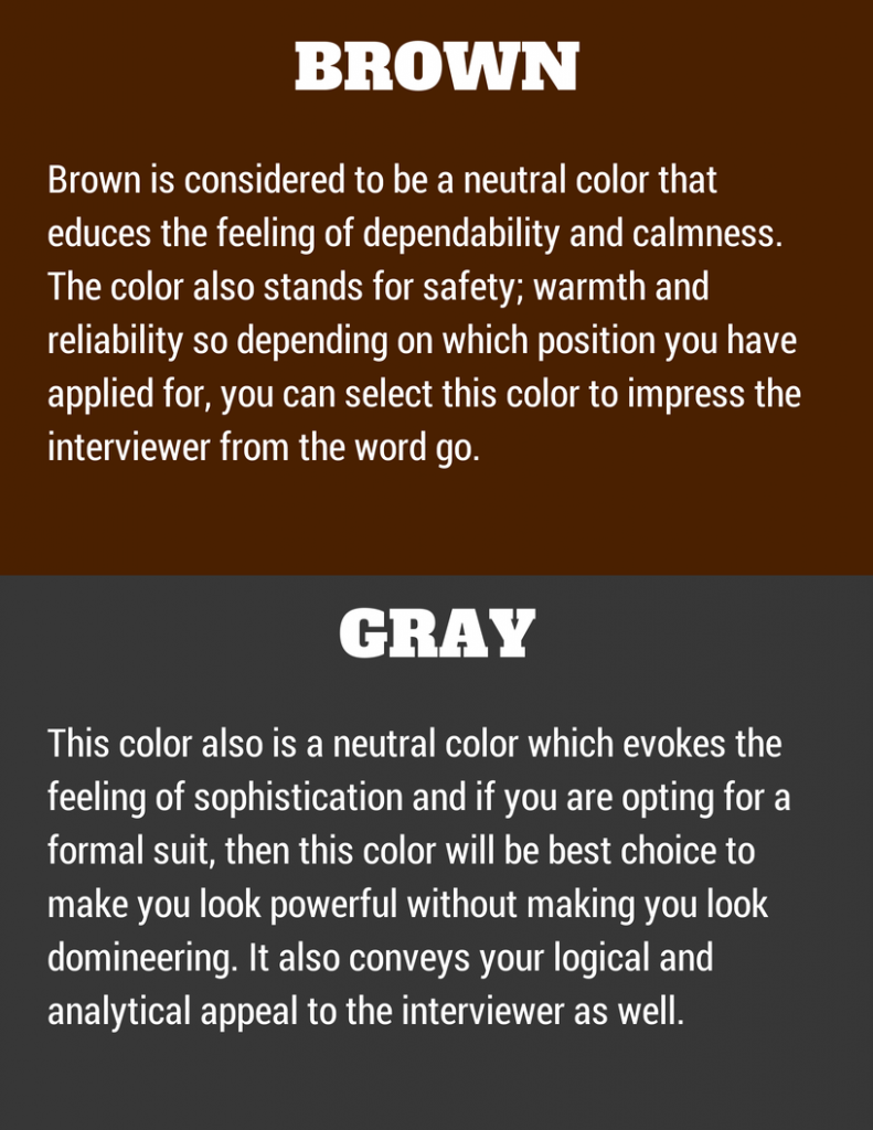 Colors to wear in an interview