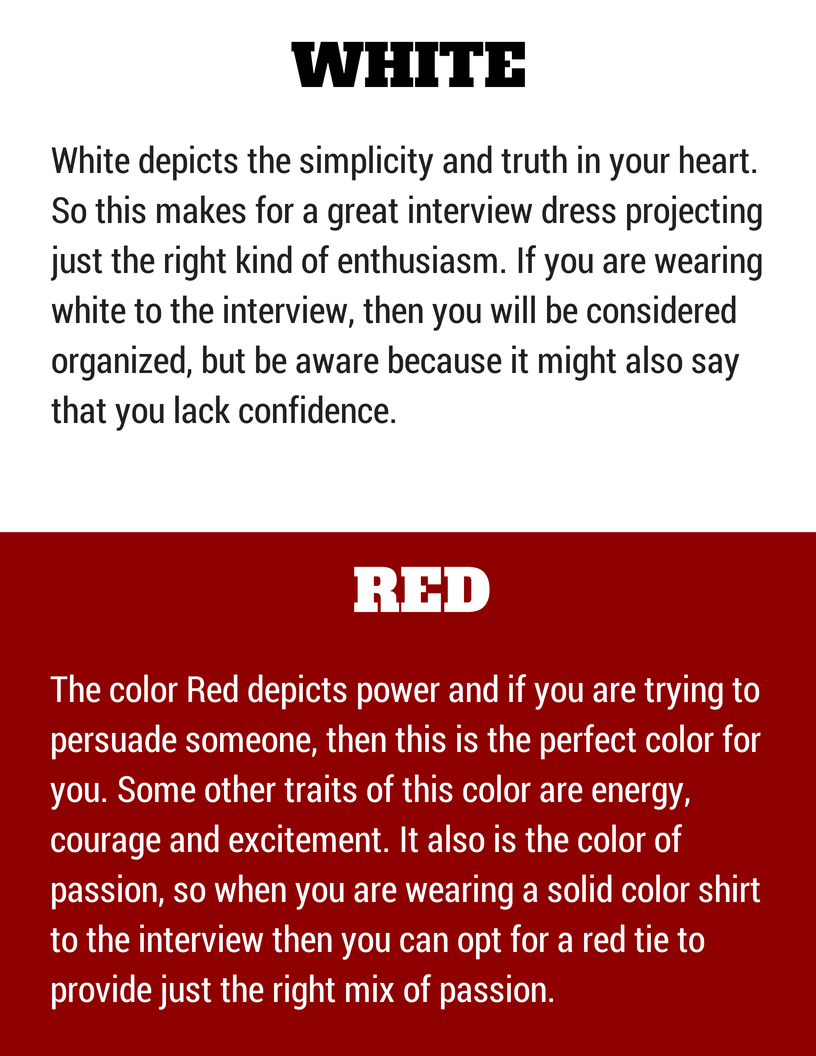 how to dress for a job interview tips for male and female wisestep colors to wear in an interview