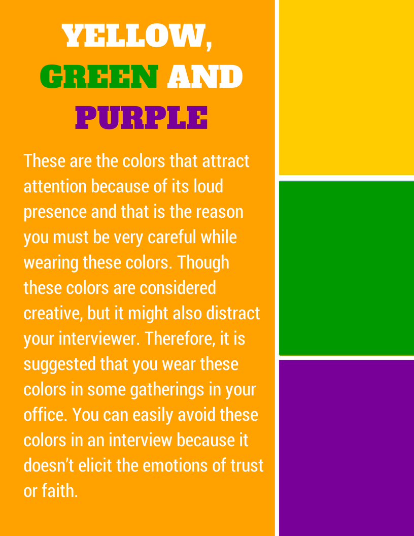 colors to wear in an interview - What Colors To Wear To An Interview