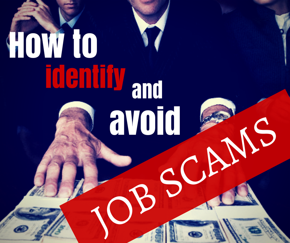 Identifying job scams and avoiding them