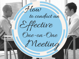 How to conduct an effective one on one meeting