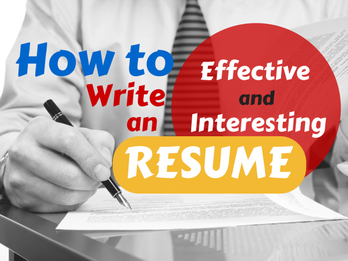 Tips on how to write an effective resume