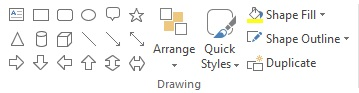 Make use of powerpoint shapes