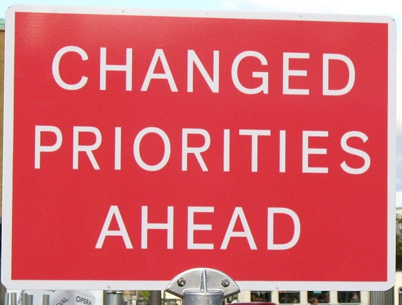 changing priorities in startups