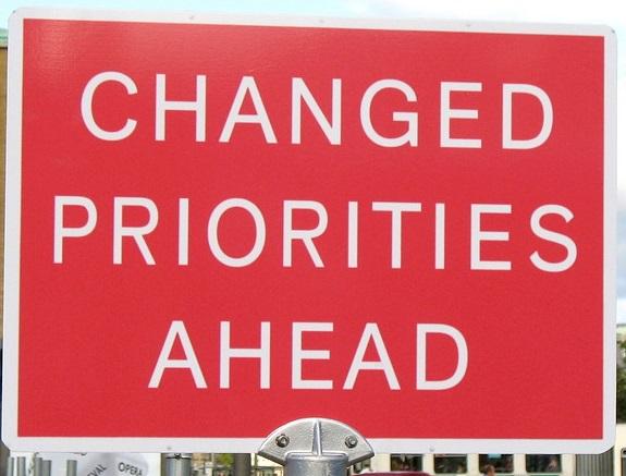 changing priorities in startups