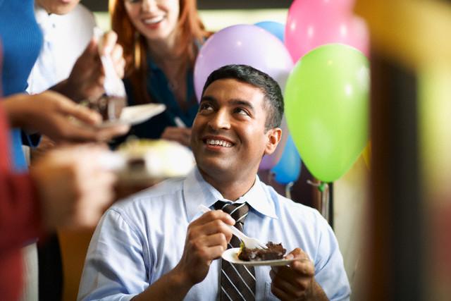 Birthday celebration in office