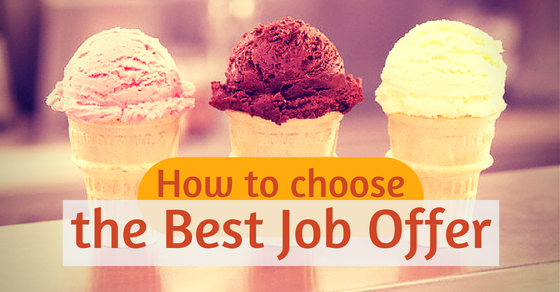 How to choose the best job offer