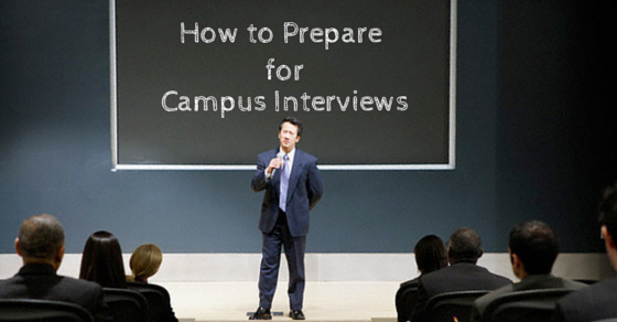 How to prepare for campus interviews