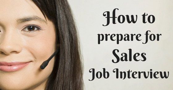 How to prepare for sales job interview