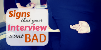Signs that your interview went bad