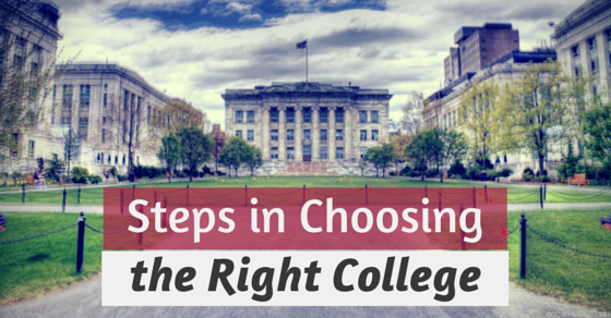Steps in choosing the right college