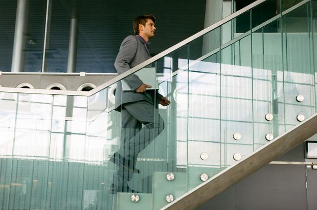 Taking stairs at work