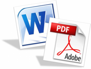 word or pdf