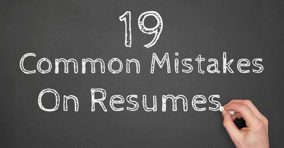 Common Mistakes on resumes