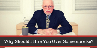 Hire someone over other