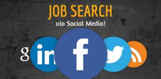 Job search via social media