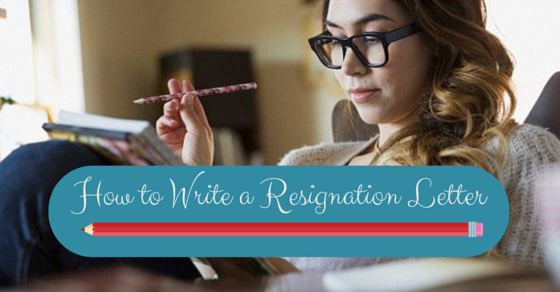 writing a good resignation letter