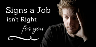 Signs a Job isnt right