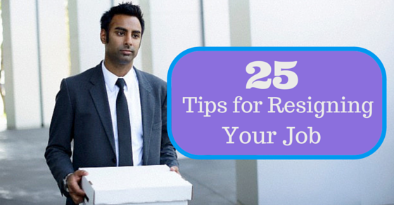 Tips for resigning