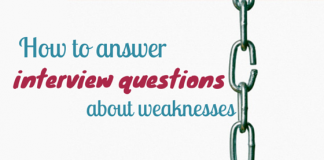 answer about your weakness