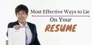 ways to lie on resume