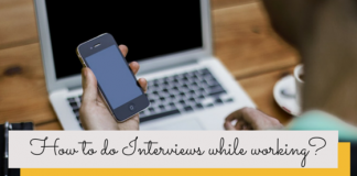 Interviews while working