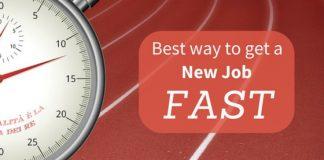get new job fast