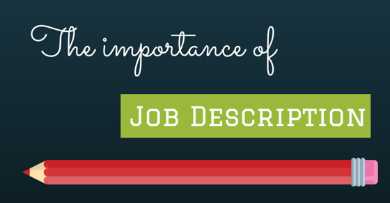 importance of job description