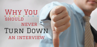 turning down an interview