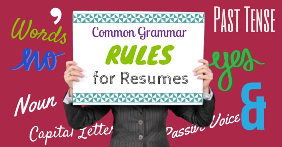Grammar rules for resumes