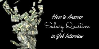 How to answer salary question