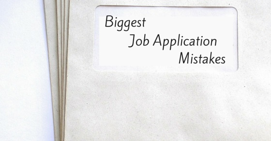 Job application mistakes