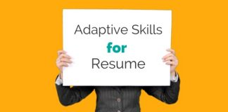 adaptive skills for resume