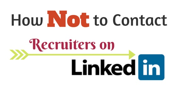 contact recruiters on linkedin