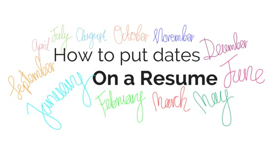 dates on resume