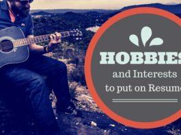 hobbies for resume