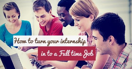 internship to full time