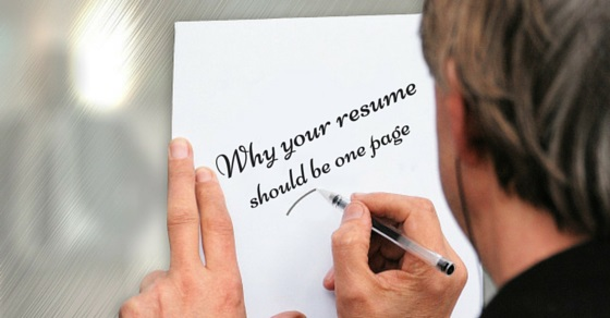 Why Your Resume Should Be One Page   Good Reasons  Wisestep
