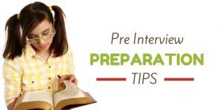 pre interview preparation