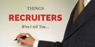 things recruiters won't tell you