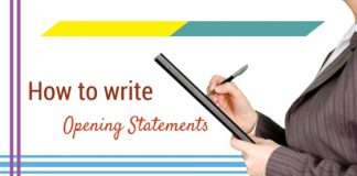 writing opening statements