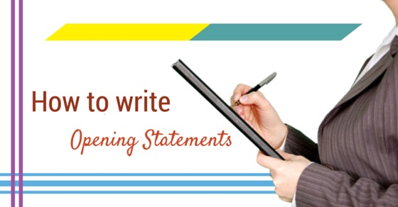 writing opening statements