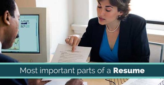important parts of resume